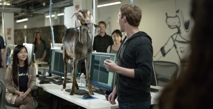 New Facebook Home ad features Mark Zuckerberg and a screaming goat