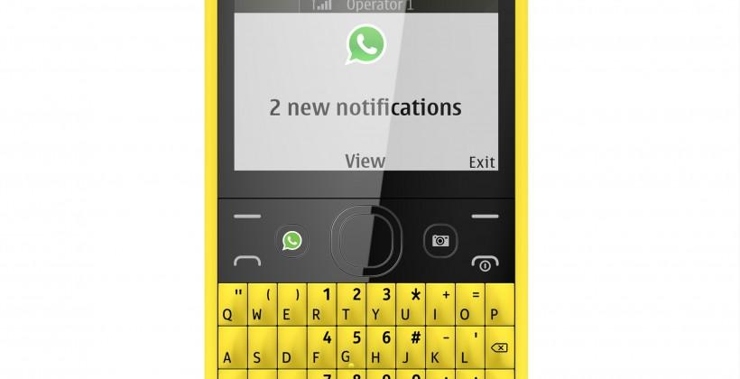Nokia Asha 210 brings the QWERTY with a dedicated WhatsApp key