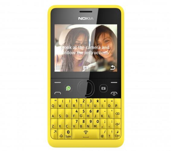 Nokia Asha 210_Yellow_SingleSIM_Self_Portrait