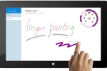 OneNote updated with finger painting in Windows Store