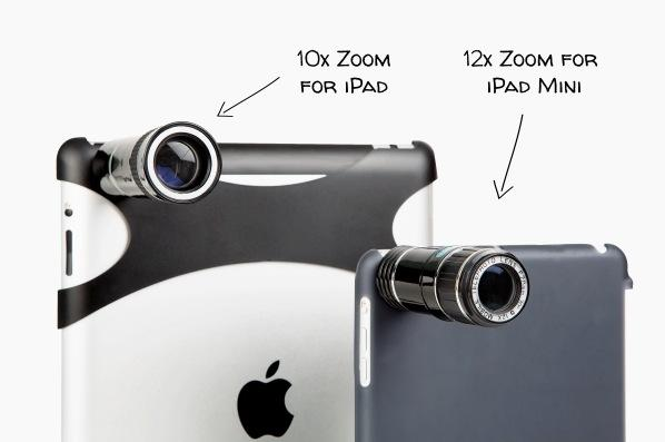 Photojojo telephoto lens offers up to 12x zoom for the iPad