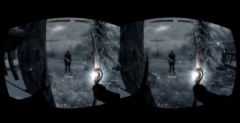 Skyrim gets demoed on Oculus Rift VR headset