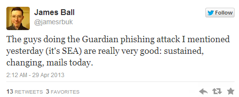Syrian Electronic Army targets The Guardian's Twitter accounts 1