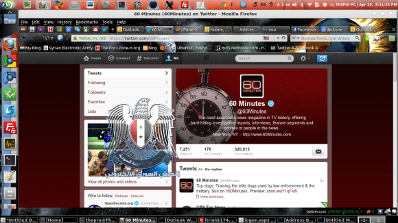 Syrian Electronic Army claims credit for CBS Twitter accounts hack