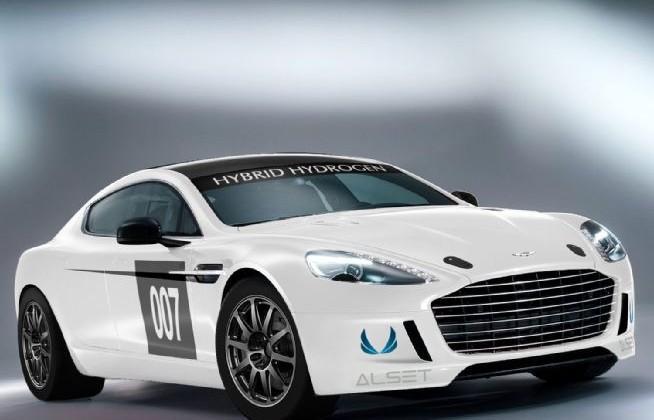 Aston Martin unveils Hybrid Hydrogen Rapide S race car