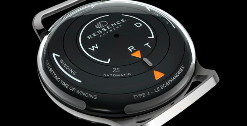 Ressence Type 3 watch employs liquid-filled body