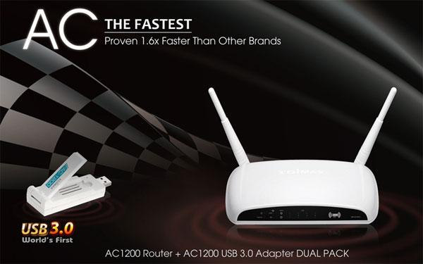 Edimax unveils new 802.11ac router and USB 3.0 network adapter combo