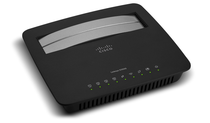 Linksys N750 Dual-Band X3500 gateway packs DSL and WiFi