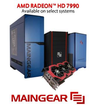 Maingear crams triple slot Radeon HD 7990 inside gaming PCs
