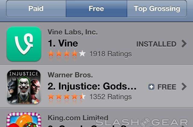 Vine becomes top free app in iTunes App Store