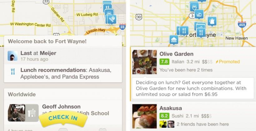 Foursquare 6.0 arrives with focus on Explore recommendations
