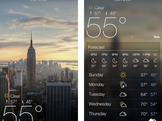 Yahoo launches new Weather and Mail mobile apps