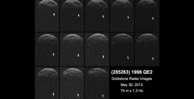 Asteroid 1998 QE2 passes Earth with moon in tow