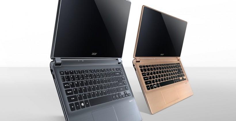 Acer Aspire V5 and V7 Ultrabooks offer thinner design, faster internals