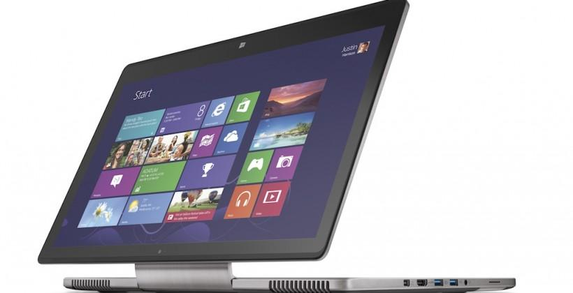 "Acer Aspire R7 notebook flips, twists, and folds on new ""Ezel"" hinge"