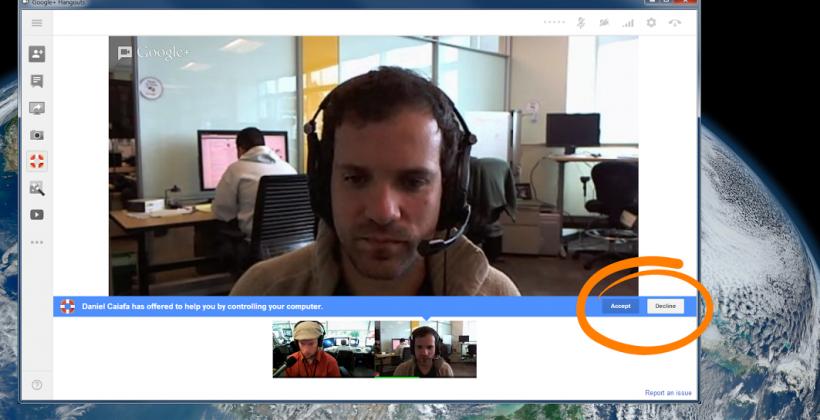 Google+ Hangouts get Remote Desktop feature using Chrome technology