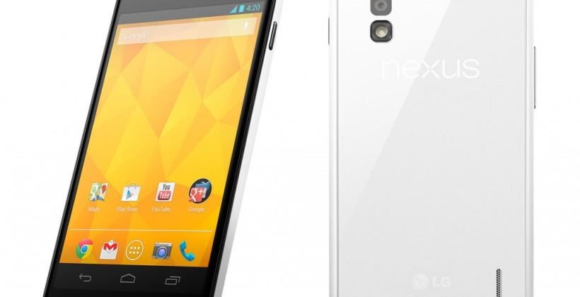Nexus 4 White finally gets official