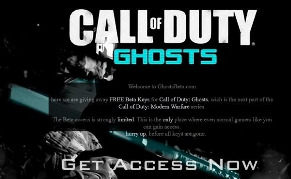 "PSA: Call of Duty: Ghosts ""beta invite"" imposter websites on the prowl"