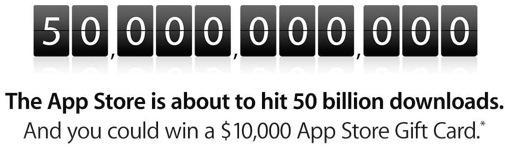 Apple counts down to 50 billion downloads in iTunes App Store