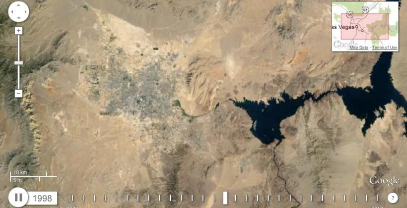 Google Timelapse shows a changing Earth in animated form