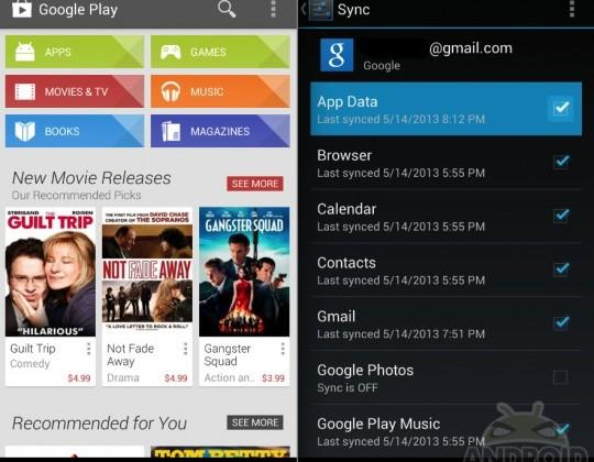 Google rolls out Play Store update and app data sync