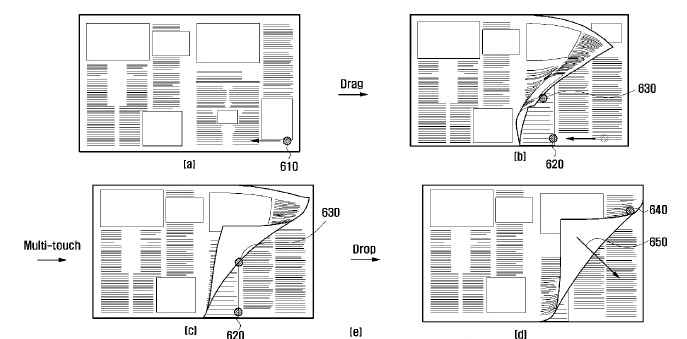Samsung files for ebook page turning patent