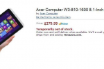 Acer Windows 8 tablet with 8-inch display appears on Amazon