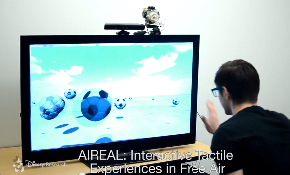 Disney Research Aireal adds real force-feedback to Kinect gaming