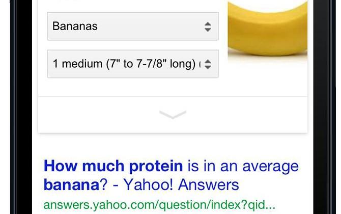 Google brings nutritional information to search results