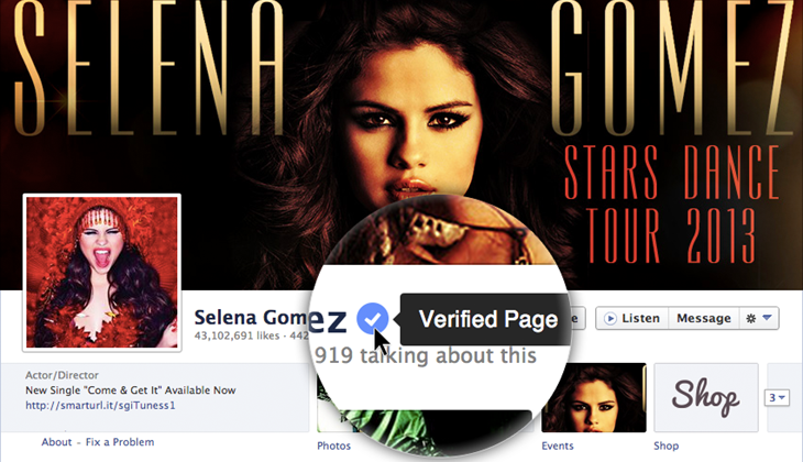 Facebook intros verified pages and profiles, takes a page from Twitter