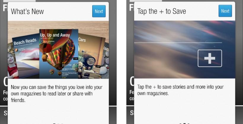 Flipboard for Android updates with custom magazine support