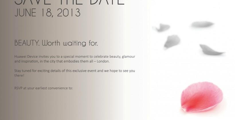 "Huawei ""Beauty"" event set for June 18"