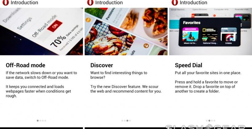 Opera web browser for Android leaves Beta: we go hands-on