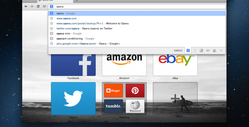 Opera Next browser released with Chromium engine under the hood