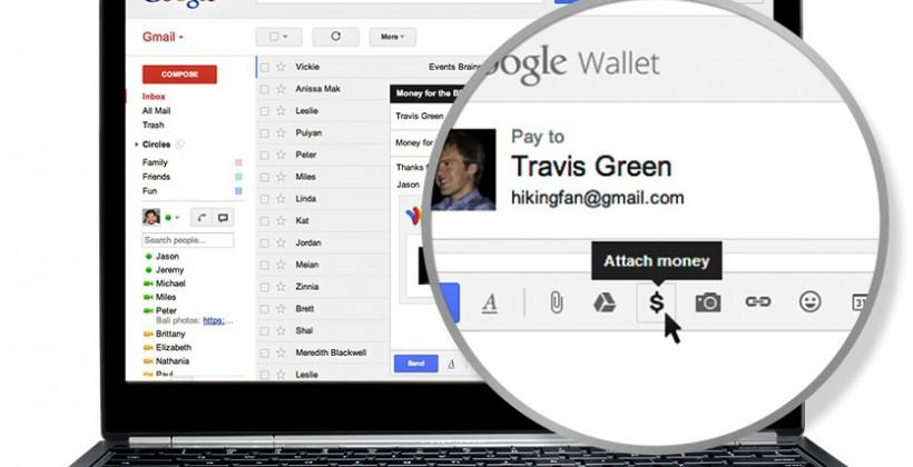 Google Wallet comes to Gmail with money attachments
