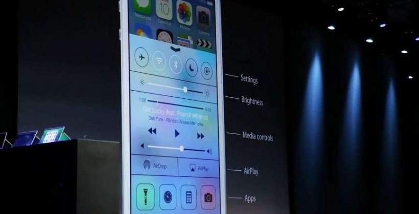 iOS 7 Control Center adds toggles at a swipe