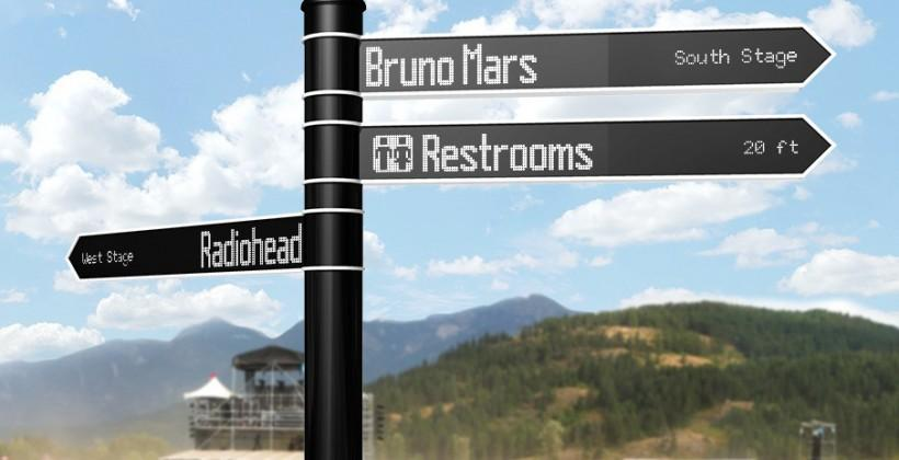 Points electronic sign connects to internet for street smarts