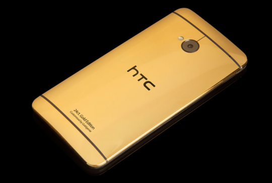 HTC One edition with gold and platinum plating options unveiled
