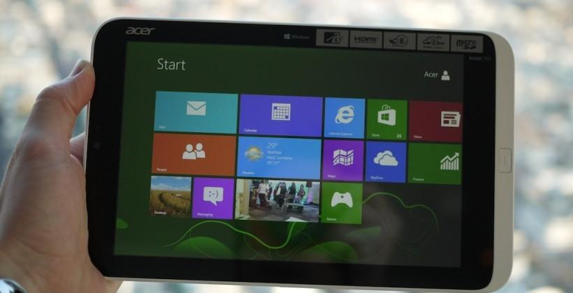 Acer Iconia W3 Windows 8 tablet hands-on