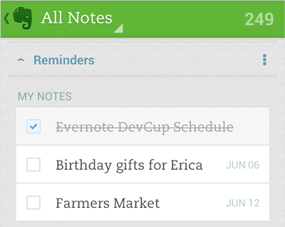 Evernote custom reminders finally arrive on Android