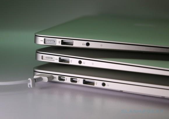 Apple hybrid port patent tips slimmer MacBooks sharing sockets