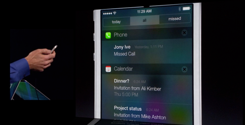 iOS 7 brings notification center to lock screen