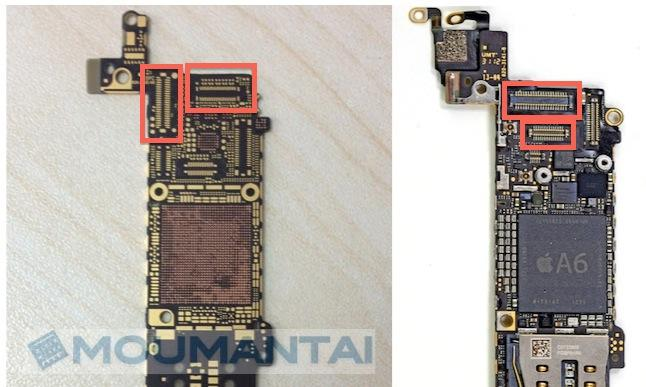 iPhone 5S display hardware leaks aside inner components