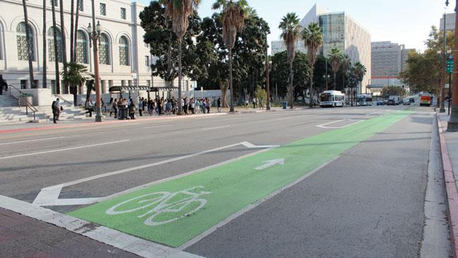 Hollywood battles bikers over shot-stealing cycle lane