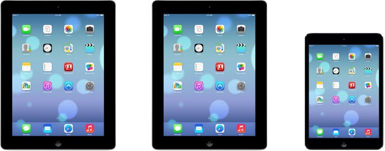 iOS 7 device compatibility chart unveils iPad aesthetics