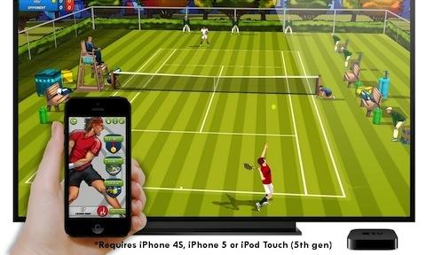 Motion Tennis uses AirPlay to turn iPhone and Apple TV into Wii rival