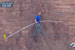 Nik Wallenda Grand Canyon high-wire walk sets risky record