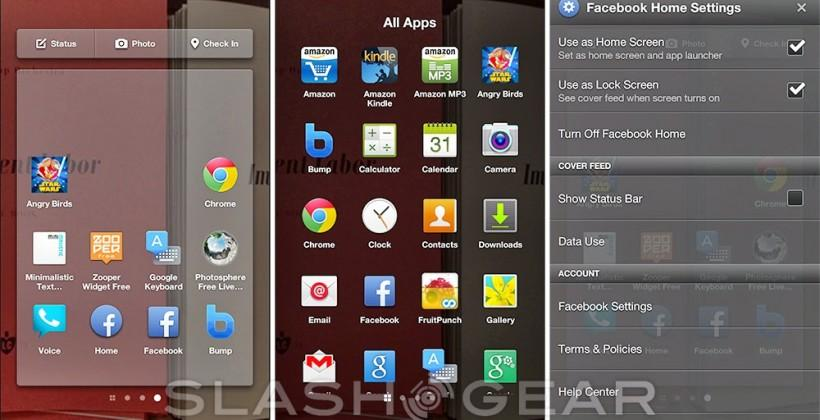 Facebook Home gains favorite apps tray via basic Android app