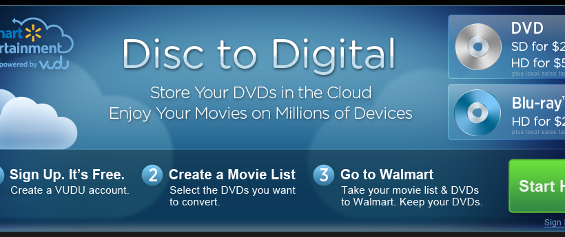 VUDU Disc to Digital meant to leave Beta today [UPDATE]