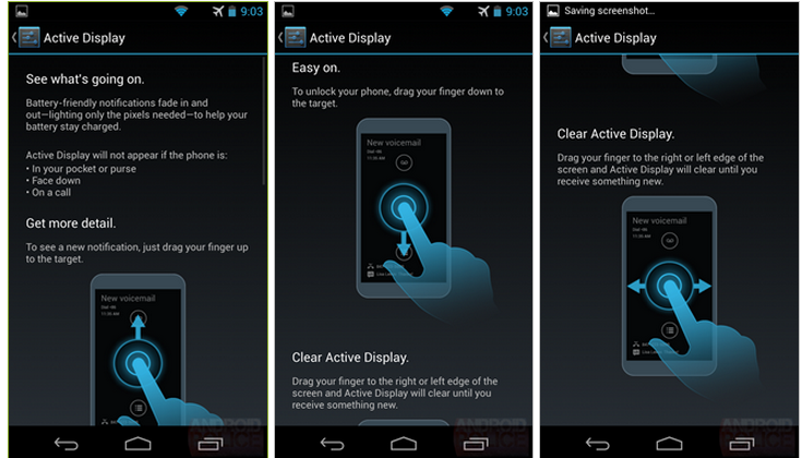 Moto X screenshots show Lost Phone Tracking, Connect Chrome Extension and more